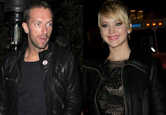 Jennifer Lawrence e Chris Martin