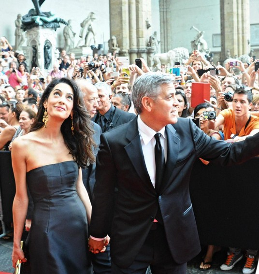 George Clooney a Firenze